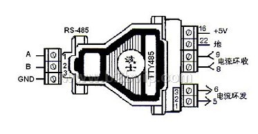 RS232电流环转换器TTY485