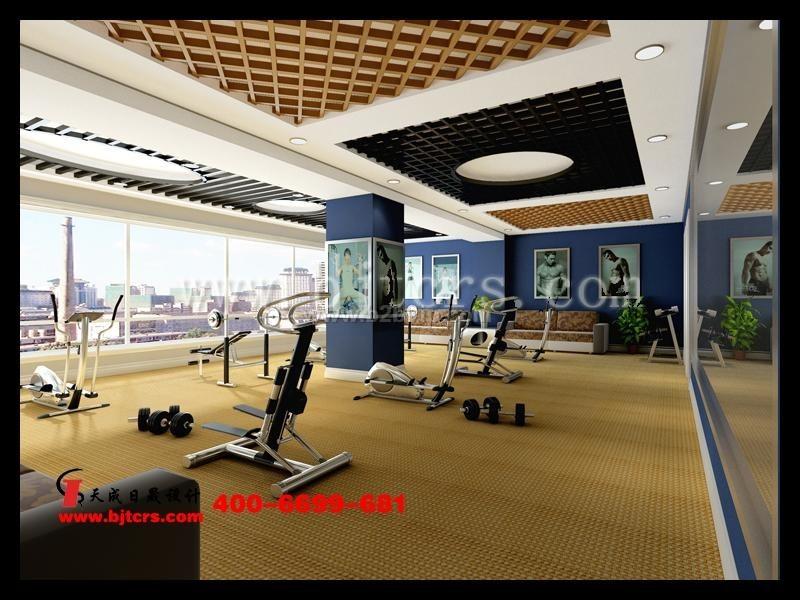 健身房休闲空间设计效果图