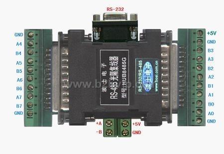 HUB8485G   RS485转8路RS485集线中继器