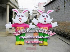 兔子气模服装。气模拱门