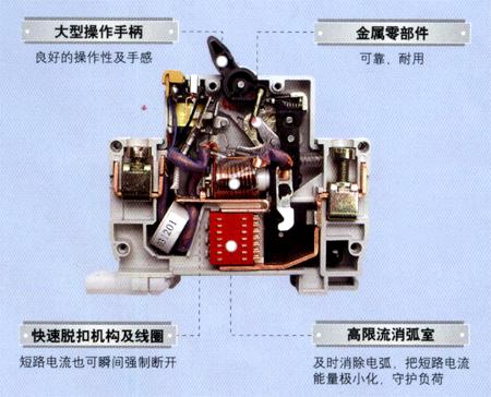 漏电断路器内部结构图bdpe