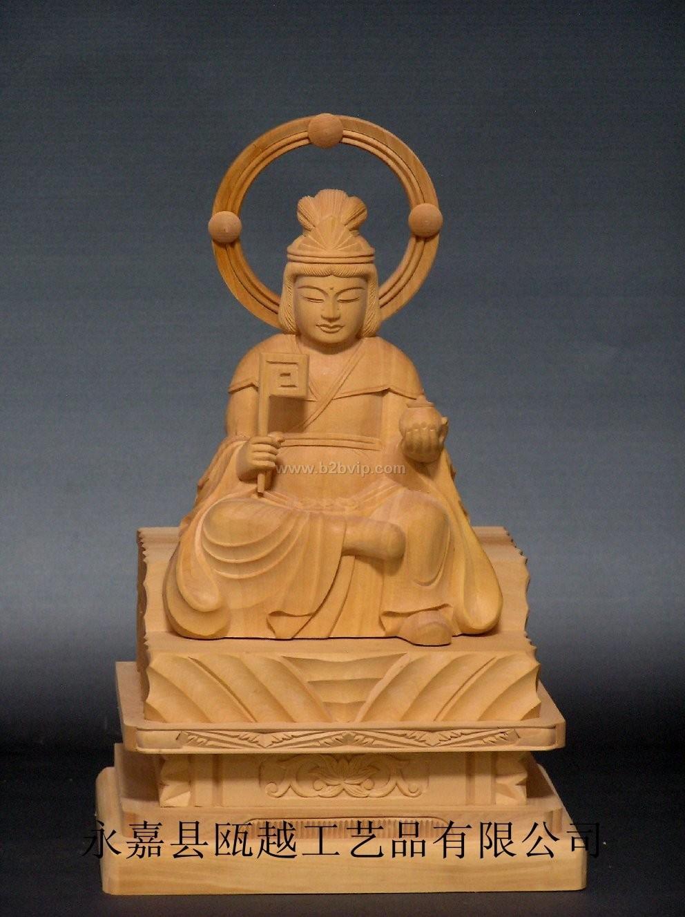 木雕佛像-七面大明神