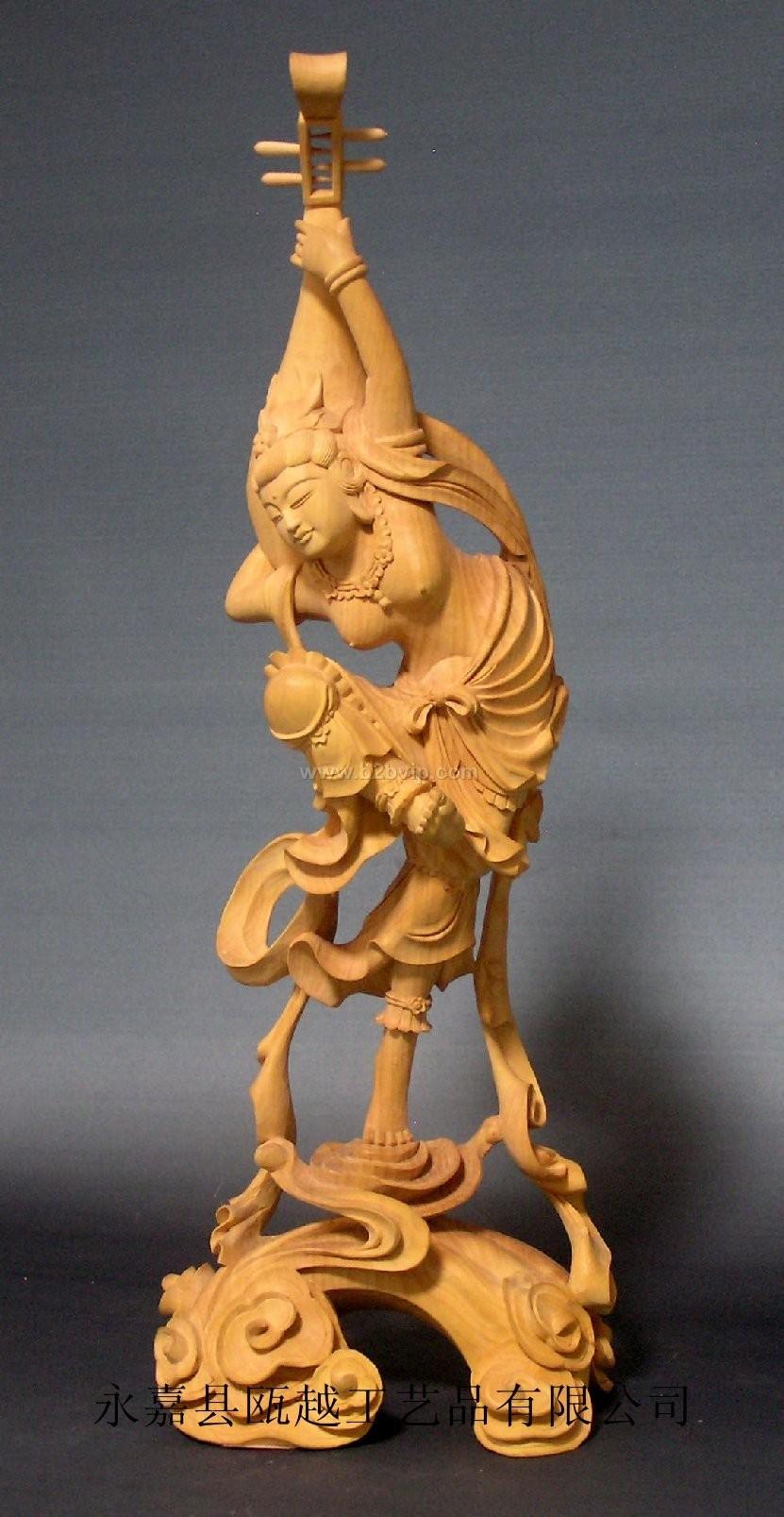 供应木雕佛像反弹飞天琵琶女