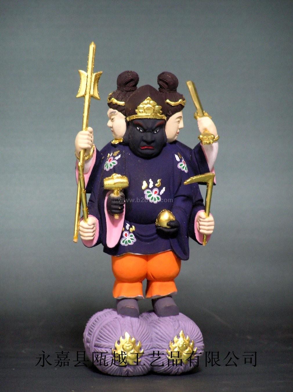 大黑天是梵语玛哈嘎拉的意译,又译为救怙主,藏语称贡保。他原是古印度的战神,进入佛教后,颇受密教崇奉。藏密说他是观世音菩萨化现的大护法。东密说他是大日如来降伏恶魔所现的愤怒药叉形象,位居诸大护法神之首。在藏密中,他既是护法神,同时也是密宗修法所依止的重要本尊。据说他的修法《大黑天神秘密成就次第》十分秘密,不是入室弟子不得传与。