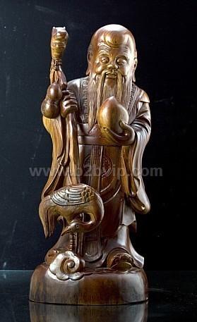 老寿星木雕佛像_雕塑,雕刻工艺品