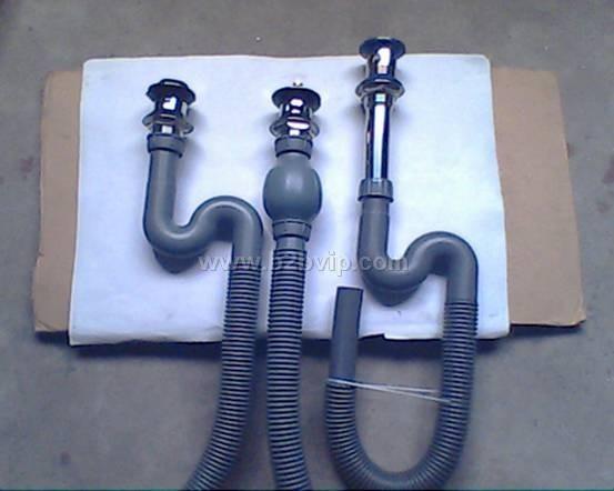 供应台盆/面盆下水配件S形/球形臭下水波纹管41
