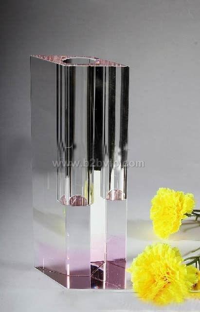 上海水晶花瓶厂家酒店摆件公司前台摆件家居用品