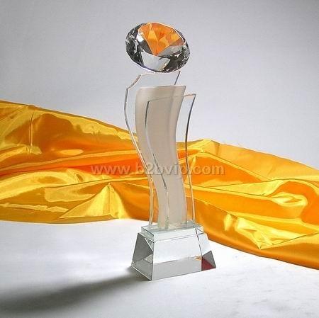 上海水晶奖杯高档水晶奖杯优秀企业奖杯媒体水晶奖杯