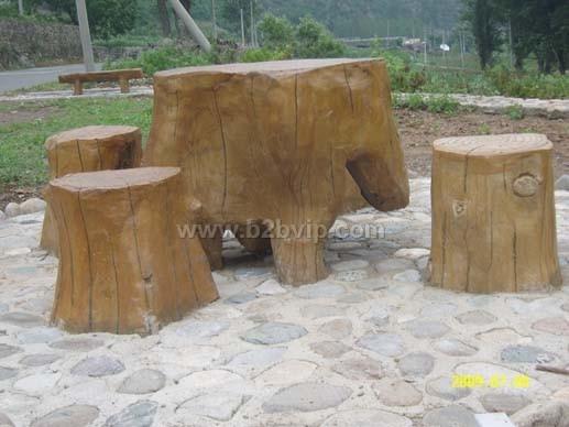 仿木桌椅_混凝土制品_其他建筑材料_暖通制冷,建材