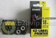 CASIO色带XR-12YW|卡西欧标签带|卡西欧色带