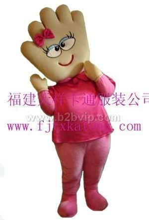天祥出售毛绒卡通服装动漫卡通服装牡丹花提供手掌