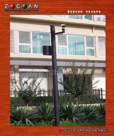 监控杆北京中创安监控立杆摄像机立杆道路灯