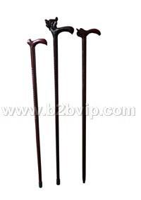 红木龙头拐杖