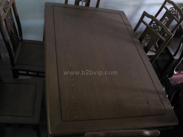 鸡翅木明式餐桌椅
